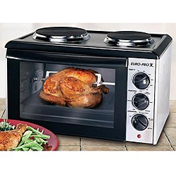Shop Euro Pro Convection And Rotisserie Oven With Cooking