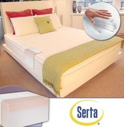 Serta 11-inch Sure Temp King Memory Foam Mattress and Cover Set. Opens flyout.
