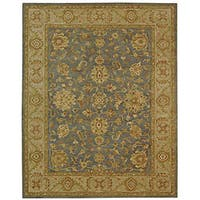 Safavieh Handmade Antiquities Jewel Grey Blue/ Beige Wool Rug - 12' x 18'