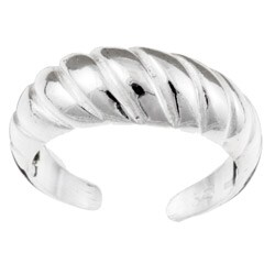 Sterling Silver Domed Toe Ring