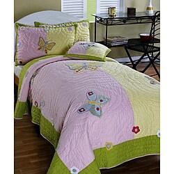 Cottage Home 'Isabelle' 3-piece Twin-size Quilt Set - Thumbnail 0
