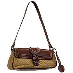 Shop Isaac Mizrahi Women S Brown Faux Leather Handbag
