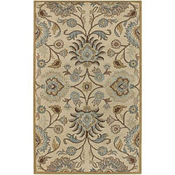 Hand-tufted Coliseum Beige Wool Rug (4' x 6')