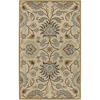 Hand-knotted Coliseum Wool Runner Rug (3' x 12')