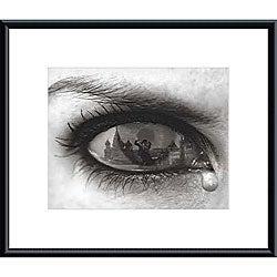 Thomas Barbey 'Tearful Encounter' Metal Framed Art Print