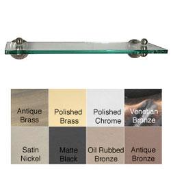 Allied Brass Dottingham 16-inch Glass Shelf