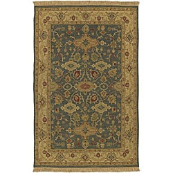 Hand-knotted Sangli Collection Wool Rug (2'6 x 10')