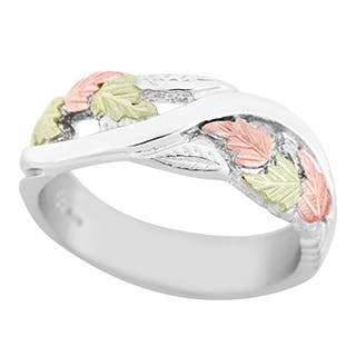Black HIlls Gold and Sterling Silver Mens Band|https://ak1.ostkcdn.com/images/products/P12134079w.jpg?impolicy=medium