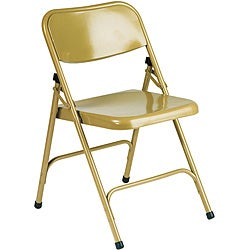 Shop Office Star Worksmart Gold Metal Folding Chairs Set