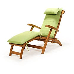 Swell Teak Steamer Chair With Cushion Overstock Com Shopping The Best Deals On Chaise Lounges Onthecornerstone Fun Painted Chair Ideas Images Onthecornerstoneorg