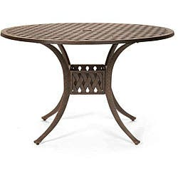 Round 48 Inch Patio Dining Table Overstock 4131244