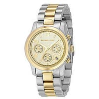 d5716b36b0c2 Michael Kors Women s  Runway  Chronograph Two-Tone Stainless Steel Watch