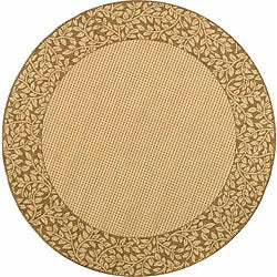 Safavieh Indoor/ Outdoor Natural/ Brown Rug (6'7 Round)