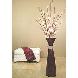 Brown 36-inch Plantation Floor Vase