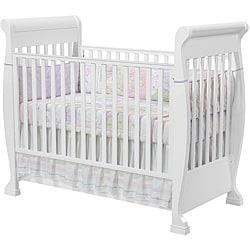 Shop Stasia White Convertible Crib Free Shipping Today