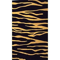Shop Alliyah Handmade Tiger Stripe New Zealand Blend Wool