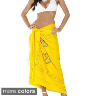 1 World Sarongs Women's Triple-embroidered 100-percent Rayon Sarong - Handmade in Indonesia|https://ak1.ostkcdn.com/images/products/P12156159a.jpg?impolicy=medium