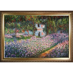Monet 'Artist's Garden at Giverny' Hand-painted Oil Art