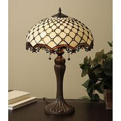 Tiffany-style Jewel Roman Table Lamp
