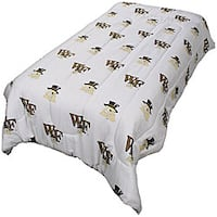 College Covers Wake Forest Twin-size White Comforter Set