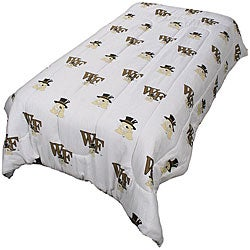 College Covers Wake Forest Queen-size White Comforter Set - Thumbnail 0