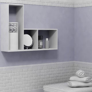 SomerTile 11.75x11.75-in Victorian Subway 1x2-in White Porcelain Mosaic Tile (Pack of 10)