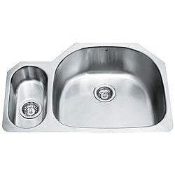 VIGO 32-inch Undermount Stainless Steel 18 Gauge Double Bowl Kitchen Sink