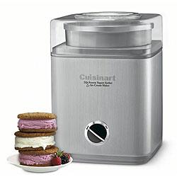 Cuisinart ICE-30BCFR Pure Indulgence 2-Quart Automatic Frozen Yogurt, Sorbet, and Ice Cream Maker (Refurbished) - Thumbnail 0