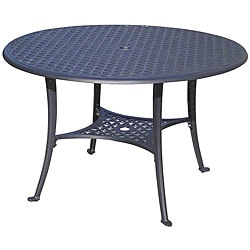 Cast Aluminum 48 Inch Round Black Dining Table Free Shipping Today Overst
