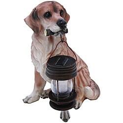 Tricod Golden Retriever Dog with Solar Light Lantern