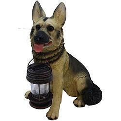 Tricod German Shepherd Dog with Solar Light Lantern