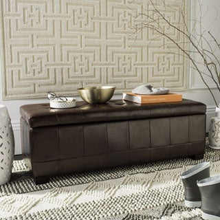 Safavieh Large Cordovan Manhattan Storage Bench