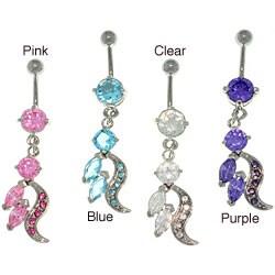Carolina Glamour Collection Stainless Steel Elegant Dangling Navel Ring