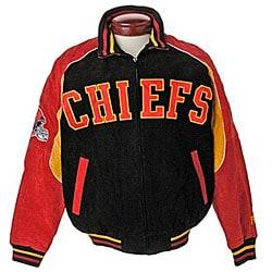 Wholesale Shop NFL Kansas City Chiefs Full zip Suede Varsity Jacket Free  hot sale