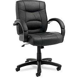 Alera Strada Leather Mid-back Swivel/ Tilt Chair