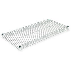 Alera Silver 36x18 Industrial Extra Wire Shelving (Set of 2)