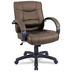 Alera Strada Leather Mid Back Swivel/ Tilt Chair