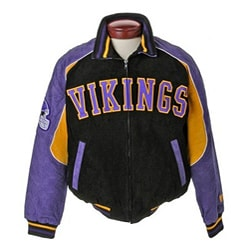 separation shoes a8cfc 4bfe0 NFL Minnesota Vikings Full-zip Suede XXL Varsity Jacket | Overstock.com  Shopping - The Best Deals on Football