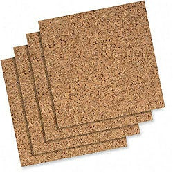 Cork Wall Tiles (Pack of 4)