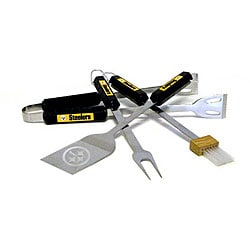 NFL Pittsburgh Steelers Tailgaters 4-piece BBQ Grill Tool Set