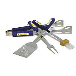 NFL Minnesota Vikings Tailgaters 4-piece BBQ Grill Tool Set
