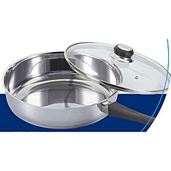 Shop Stainless Steel 10 Inch Saute Pan With Glass Cover
