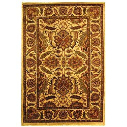 Safavieh Handmade Classic Jaipur Gold Wool Rug - 7'6 x 9'6 - Thumbnail 0
