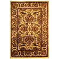 Safavieh Handmade Classic Jaipur Gold Wool Rug (7'6 x 9'6)