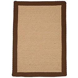 Breckenridge Indoor/ Outdoor Braided Brown/ Beige Rug (3'6 x 5'6) - Thumbnail 0