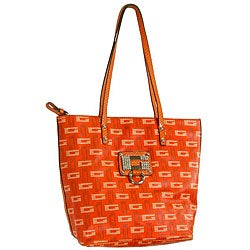 Thumbnail 1, Guess Women's 'Naomi' Orange Synthetic Leather Tote.