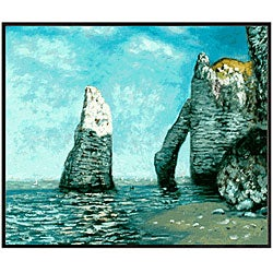 Claude Monet 'The Cliffs at Etretat' Hand-painted Canvas Art