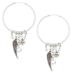 Lola's Jewelry Sterling Silver April Birthstone Hoop Earrings