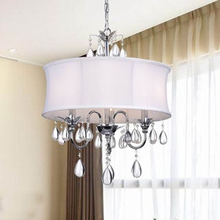 Silver Orchid Tierney Crystal Chrome 3-light Chandelier