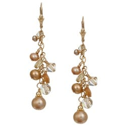 Lola's Jewelry 14k Goldfill Champagne Pearl Earrings (3-9 mm)